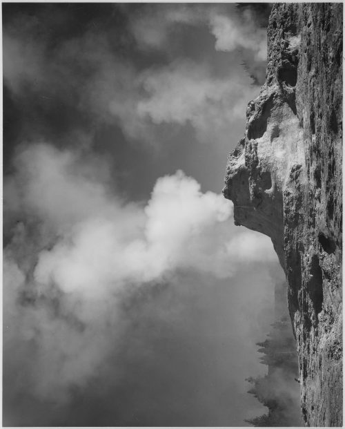 "Ansel Adams: ""Castle Geyser Cove, Yellowstone National Park,"" Wyoming"