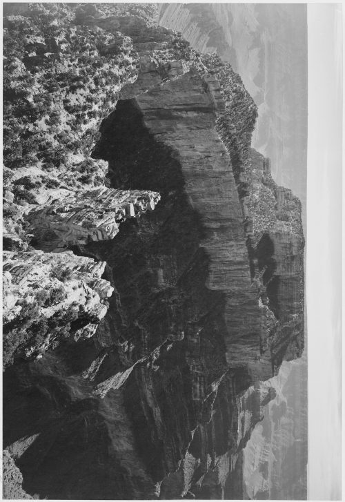 "Ansel Adams: Close-in view of curved cliff, ""Grand Canyon National Park,"" Arizona"