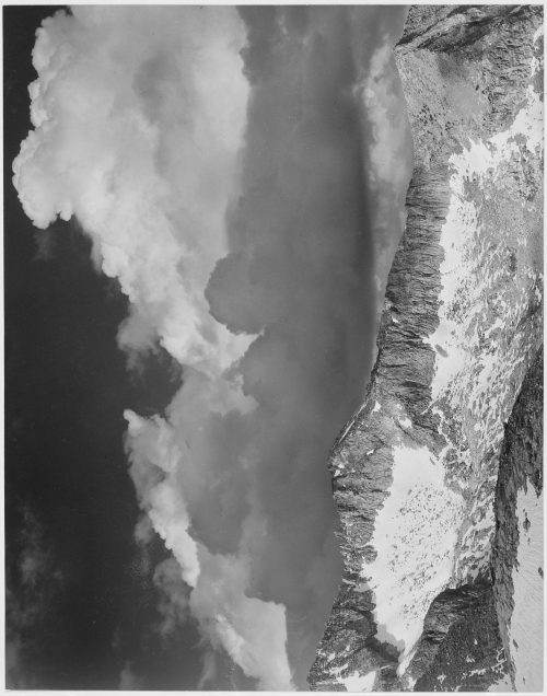 "Ansel Adams: ""Clouds – White Pass, Kings River Canyon (Proposed as a national park),"" California, 1936"