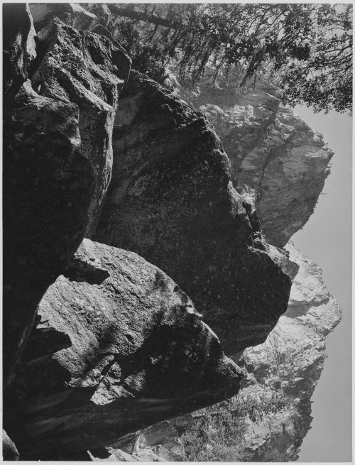 "Ansel Adams: ""Grand Sentinel, Kings River Canyon (Proposed as a national park),"" California, 1936"
