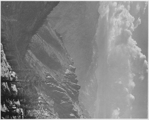 "Ansel Adams: ""Middle Fork at Kings River from South Fork of Cartridge Creek, Kings River Canyon (Proposed as a national park),"" California, 1936"