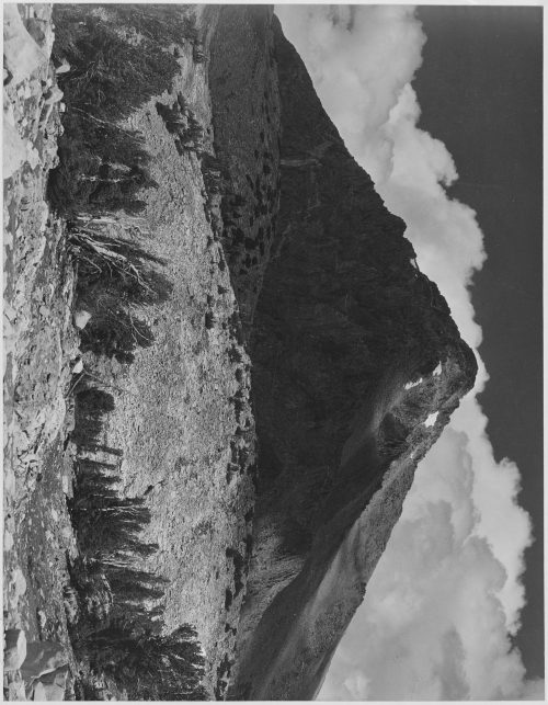 "Ansel Adams: ""Pinchot Pass, Mt. Wynne, Kings River Canyon (Proposed as a national park),"" California, 1936"
