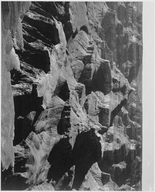 "Ansel Adams: View of rock formations, ""Grand Canyon National Park,"" Arizona"