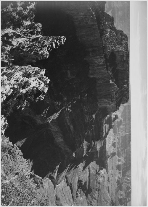 "Ansel Adams: View with rock formation, different angle, ""Grand Canyon National Park,"" Arizona"