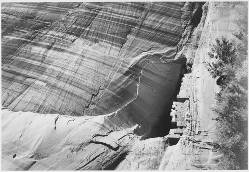 "Ansel Adams: View from River Valley, ""Canyon de Chelly"" National Monument, Arizona, (Vertical Orientation)"