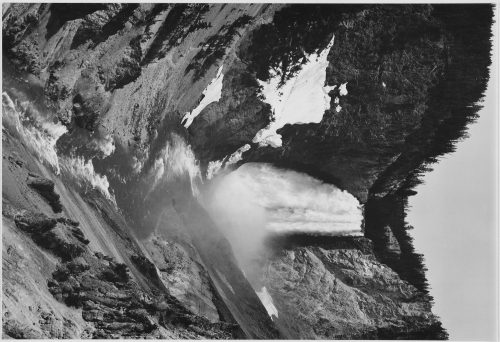 "Ansel Adams: ""Yellowstone Falls,"" Yellowstone National Park, Wyoming"