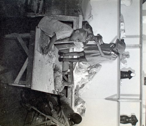 Berenice Abbott: Harlem Community Art Center: students in sculpture class, 290 Lenox Avenue