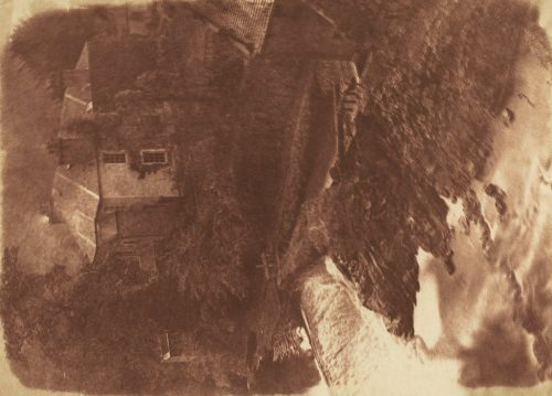 David Octavius Hill and Robert Adamson: Colinton Manse and weir, with part of the old mill on the right, 1843-47