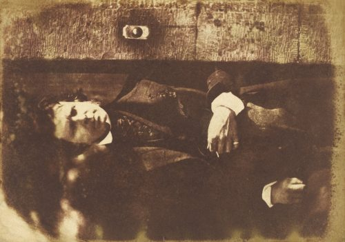 David Octavius Hill and Robert Adamson: David Octavius Hill at the gate of Rock House, Edinburgh, 1843-47