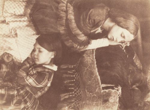 David Octavius Hill and Robert Adamson: The Three Sleepers – Sophia Finlay, Harriet Farnie and Brownie, c. 1845