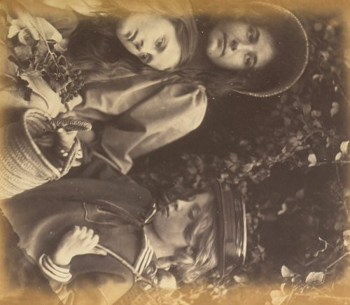 Julia Margaret Cameron: Elizabeth Keown, Kate Keown, and Freddy Gould, c. 1866-1868