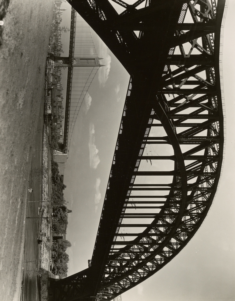 Berenice Abbott: Hell Gate Bridge, New York