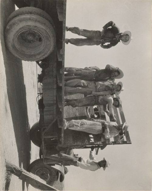 Dorothea Lange: Cantaloupe Pickers, Mexicans, at End of Day in California Melon Fields