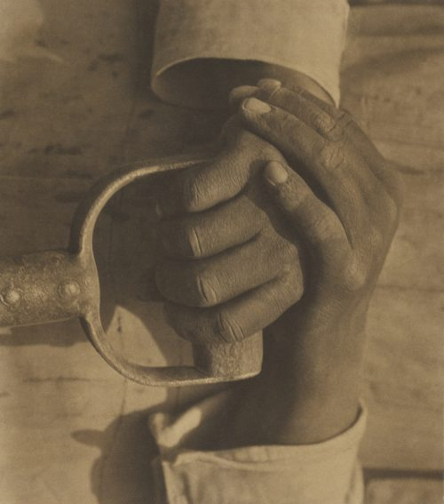 Tina Modotti : Hands Resting on Tool