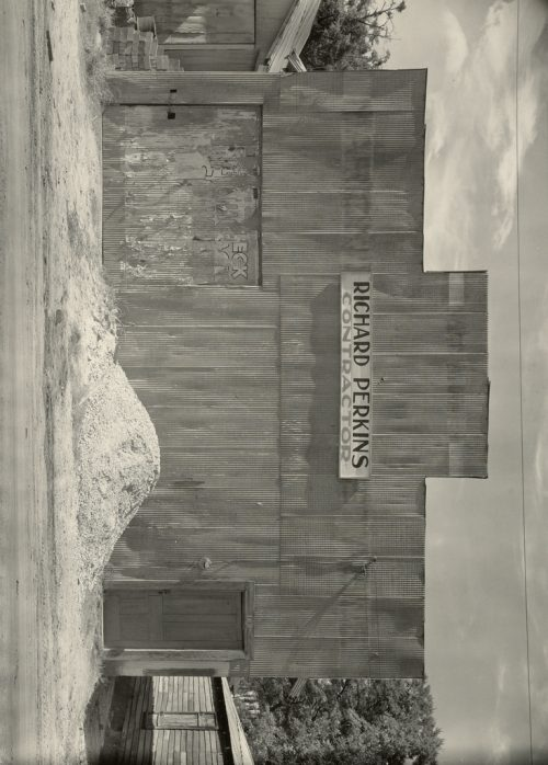 Walker Evans: Corrugated Tin Facade / Tin Building, Moundville, Alabama
