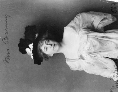 Frances Benjamin Johnston: [Alice Pike Barney, half-length portrait, facing front]