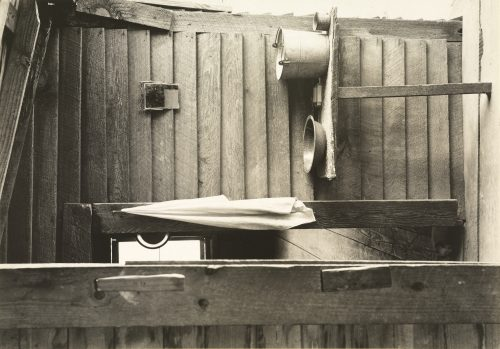 Walker Evans: Washroom in the Dog Run of the Burroughs Home, Hale County, Alabama, 1936