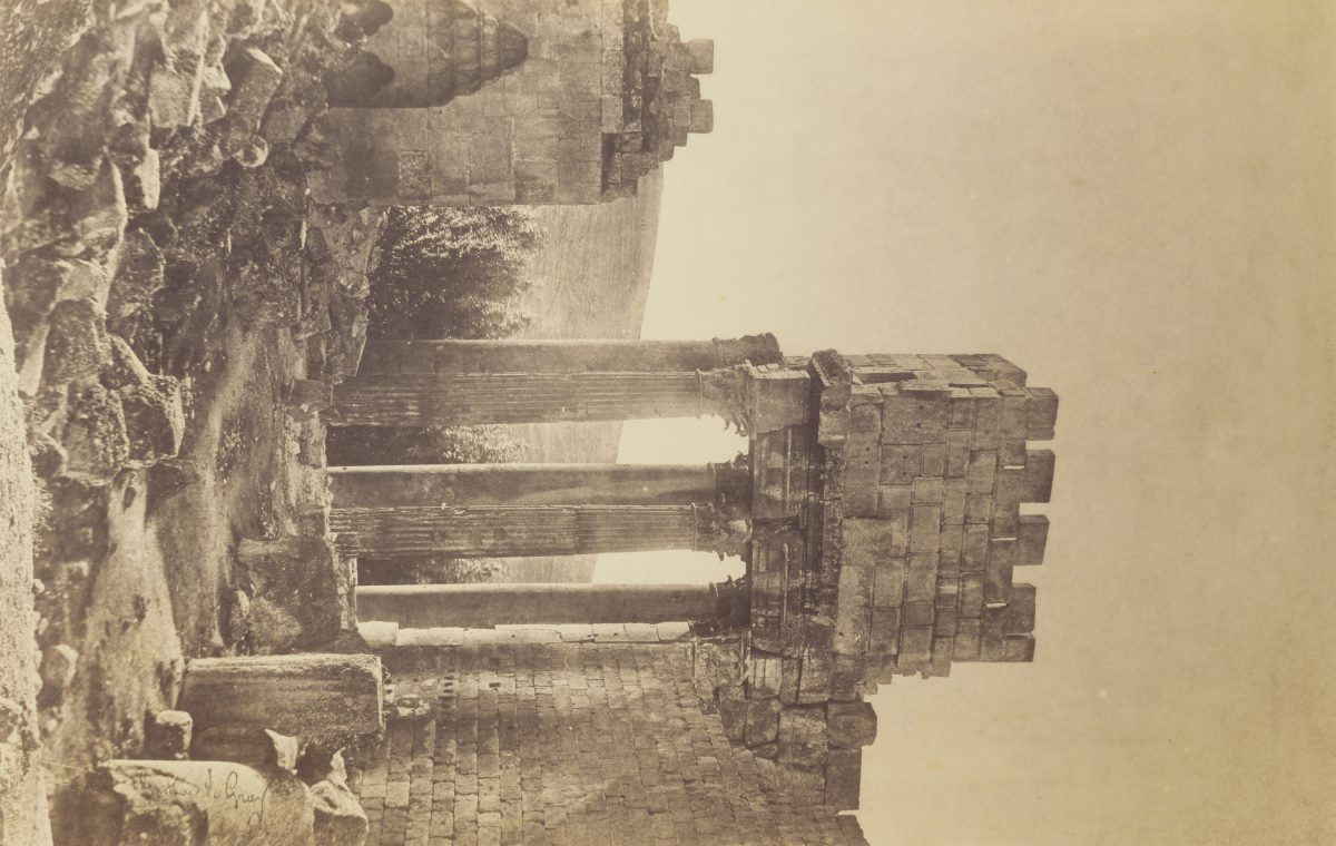 Gustave Le Gray: Peristyle, Temple of Bacchus, Baalbek, 1860